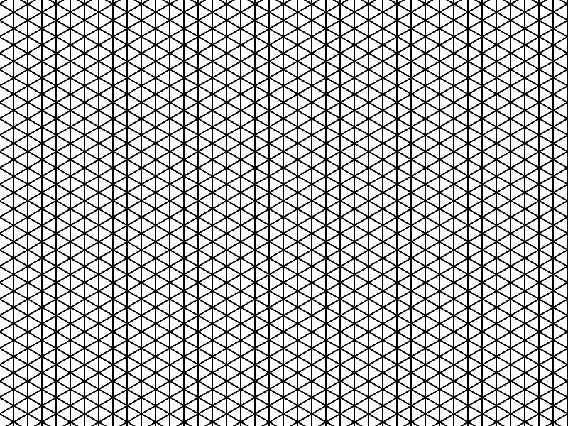 Isometric Grid Lines Pattern