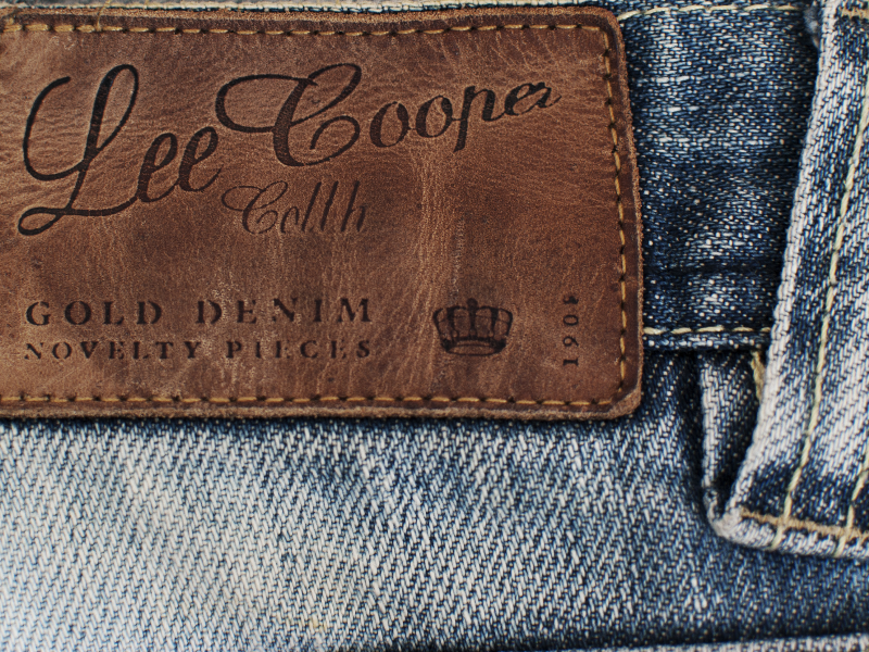 Lee Cooper Jeans Leather Label Texture