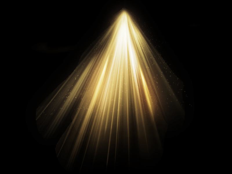 Light Beam Photo Overlay Texture With Rays Of