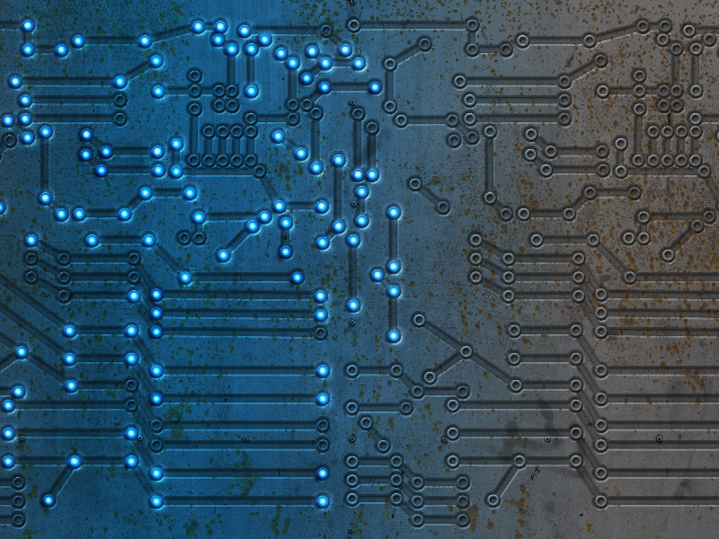 Lighted Circuit Board Texture and Technology Background Free