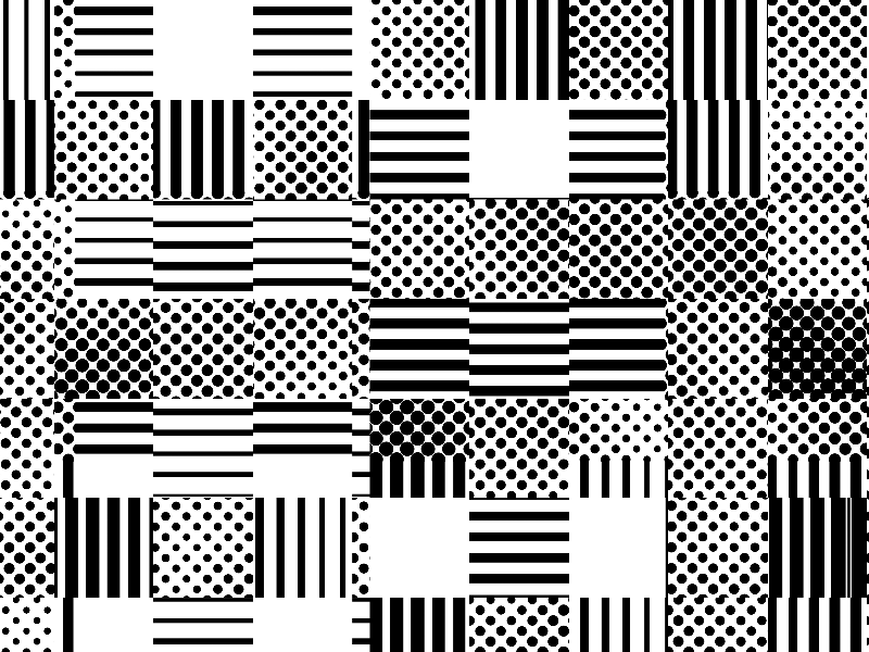 Lines Stripes And Dots Seamless Pattern
