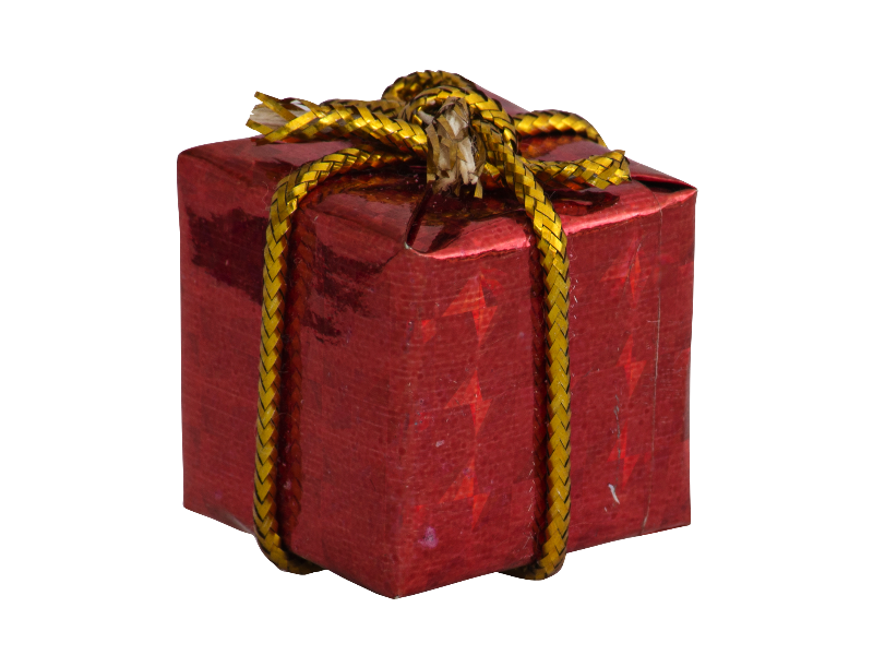 Little Gift Box Christmas Ornament Png Isolated Objects Textures
