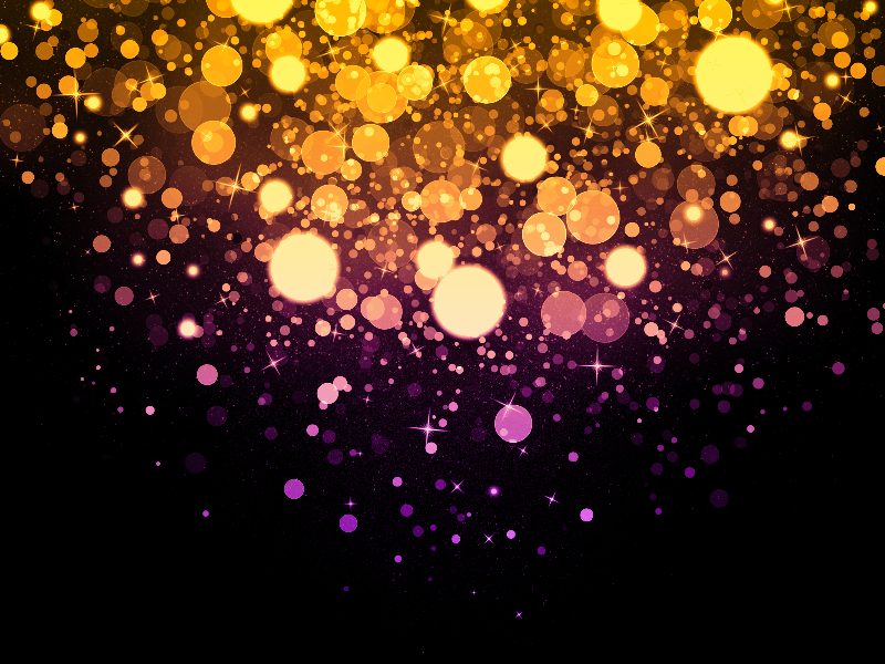 Magic Light Background With Glitter Sparkle Effects