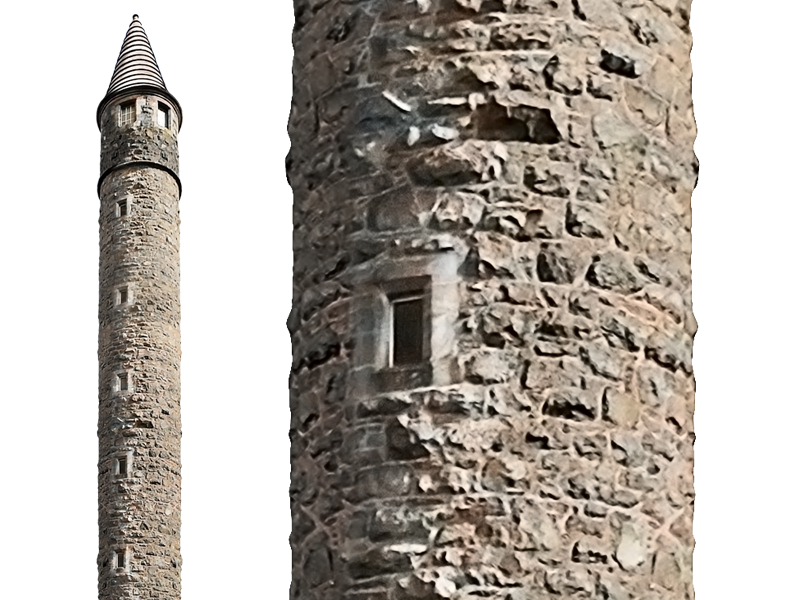 Medieval Tower PNG Stock Image