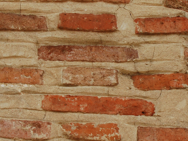Old Brick Castle Wall
