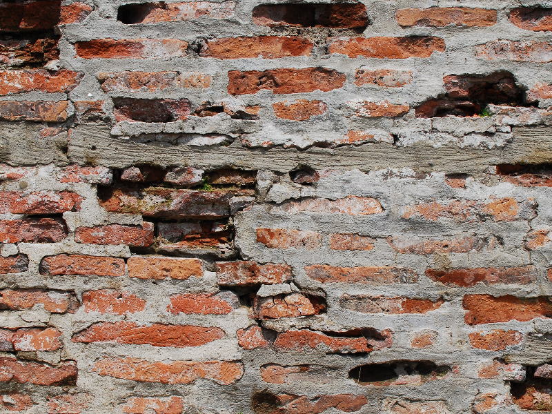 Old Cracked Bricks Wall Texture