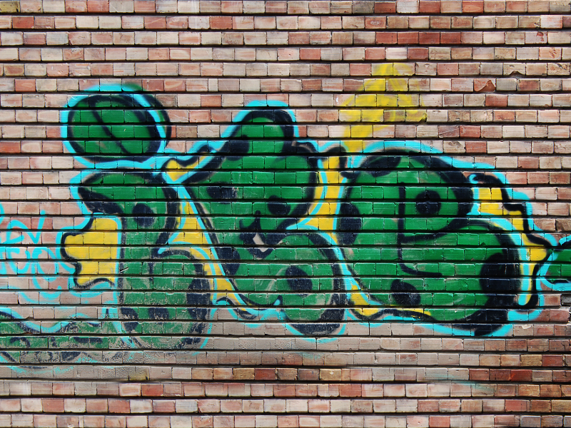 Free Graffiti image Painted on Brick Wall