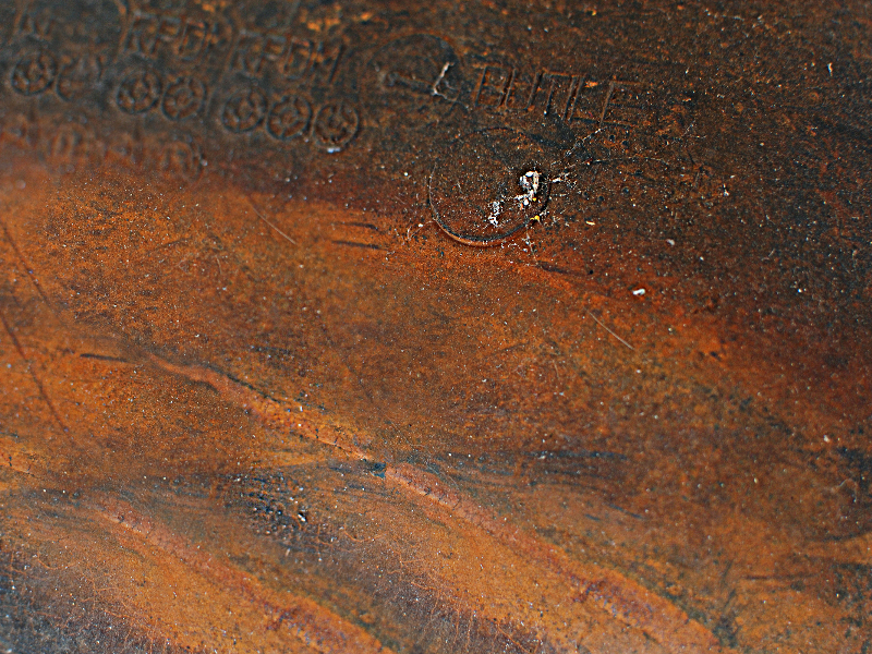 Old Weathered Rubber with Rust Stains Texture