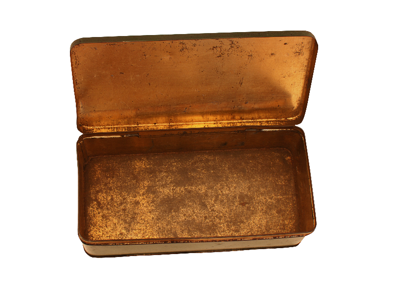 Open Vintage Metal Box PNG