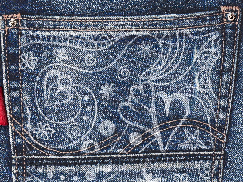 Painted Jeans Pocket Texture Free