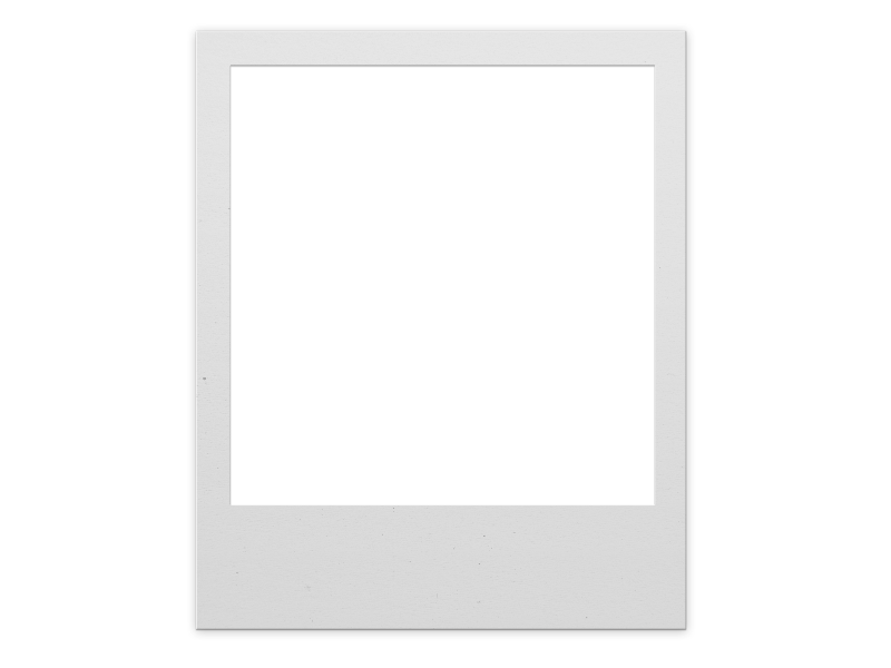 Polaroid Frame PNG For Photoshop