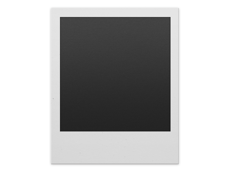 Polaroid PNG Template Free