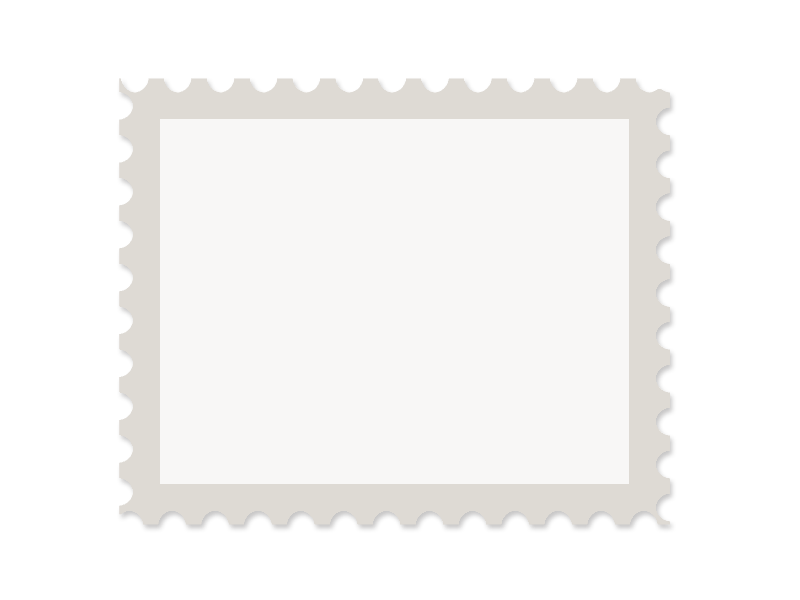 Postage Stamp Template Free PNG