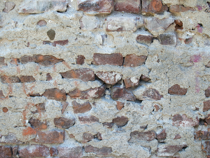 Real Exposed Brick Cracked Wall Texture