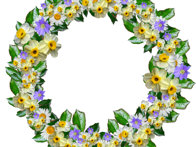 real flower crown clipart png free nature grass and foliage
