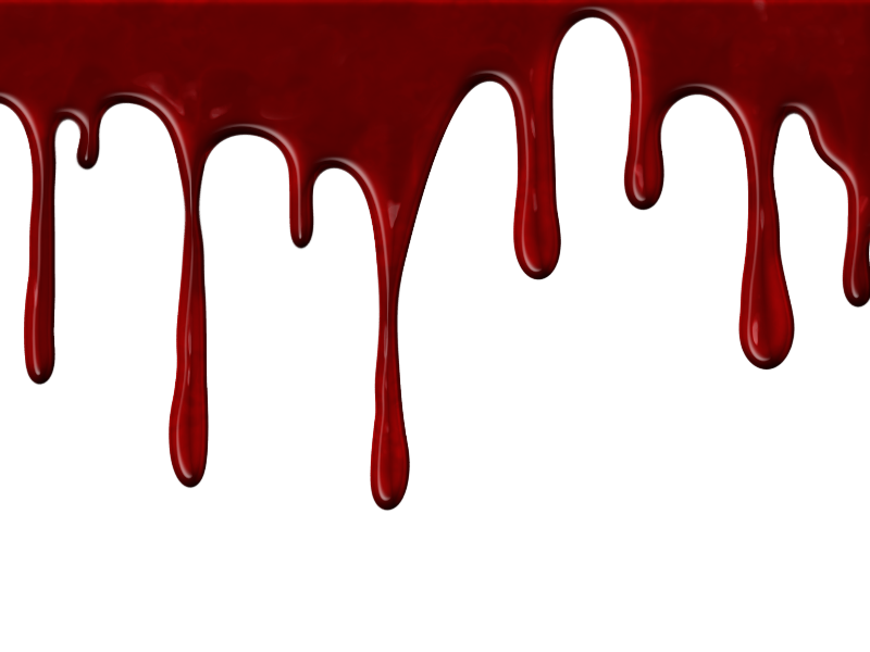 Realistic Dripping Blood PNG With Transparent Background