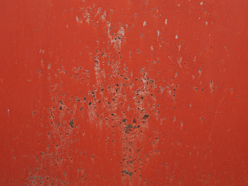 Red Painted Rusty Metal Texture Free