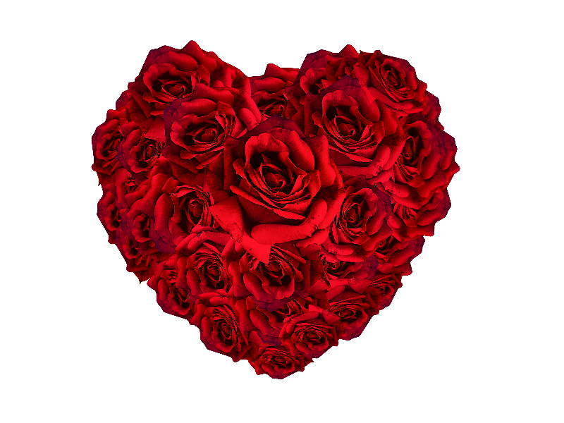 Red Roses Heart PNG