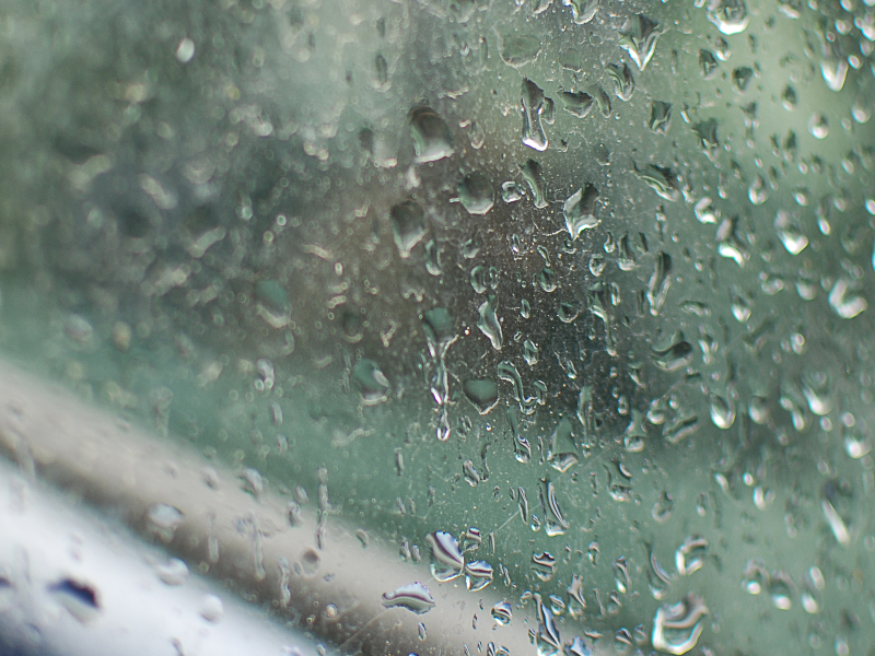 Reflective Mirror Glass With Rain Drops Free Texture