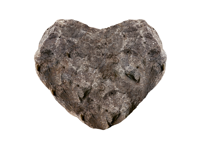 Rock Stone Heart PNG Image
