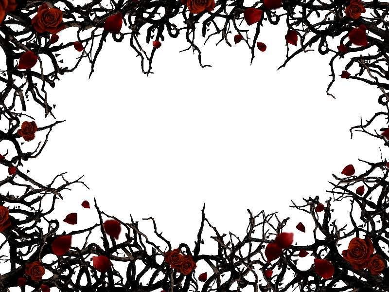 Roses And Thorns Border Frame Png Background Free