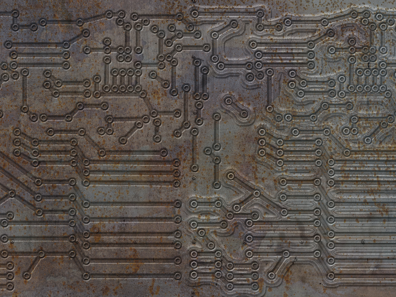 Rusty Electric Circuit Texture Free Download