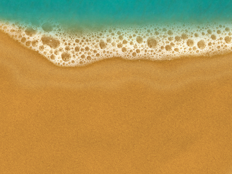 Sandy Beach Background With Sand and Sea Foam