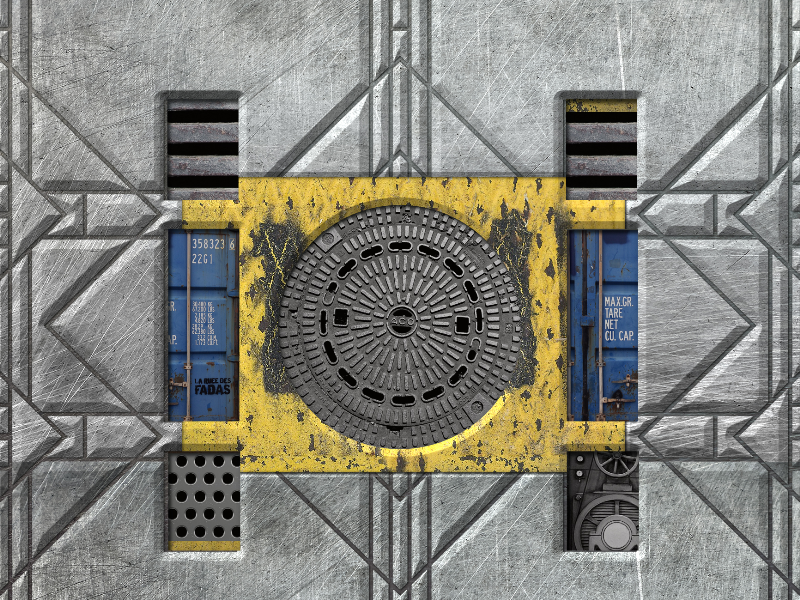 Sci Fi Container Metal Door Free Game Texture