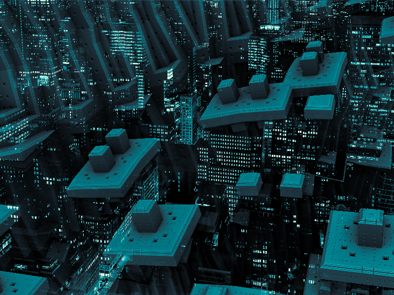 Sci Fi Futuristic City Texture Background