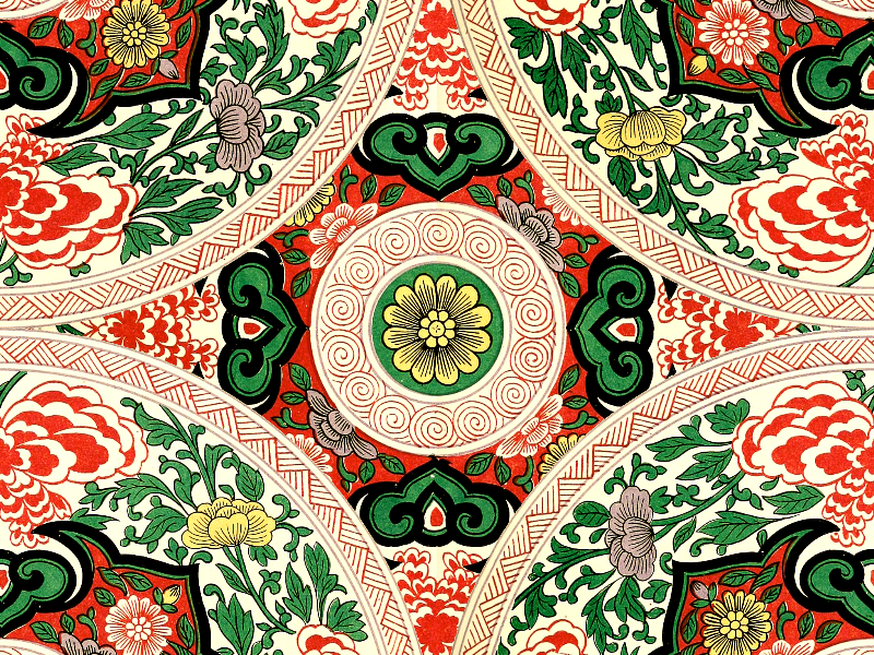 Seamless Chinesse Floral Pattern