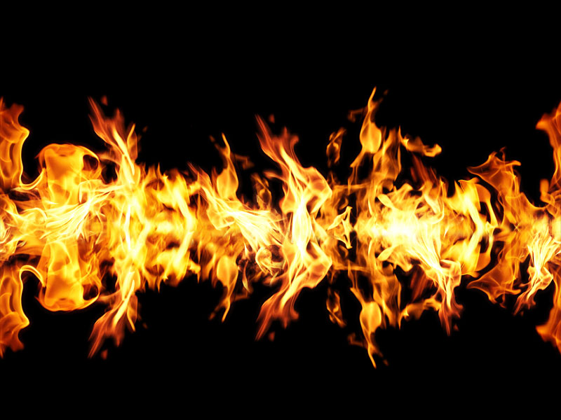 Seamless Fire Border Free Texture Background
