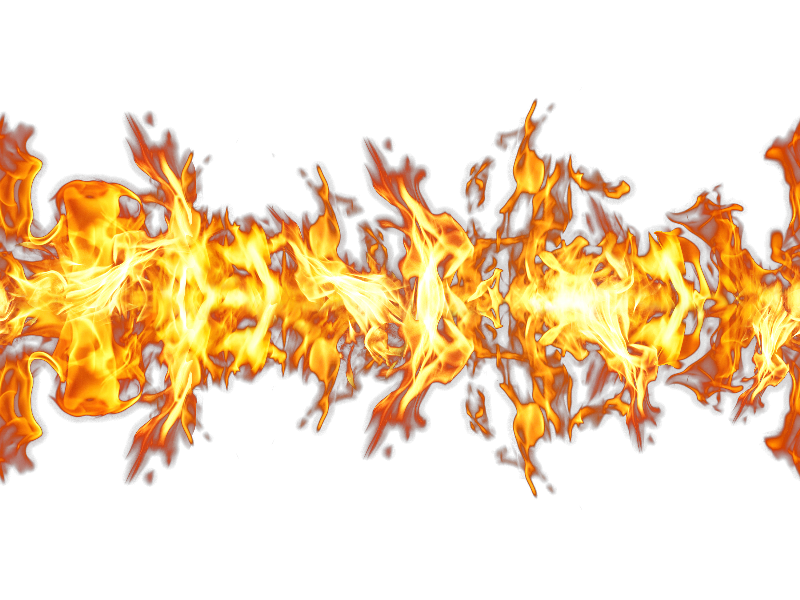 Seamless Fire PNG Effect