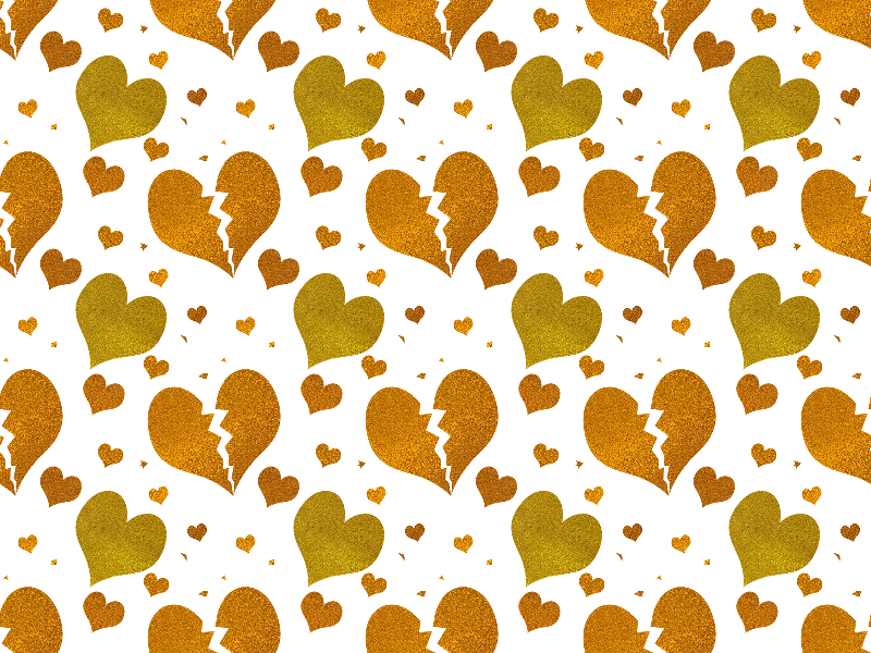 Seamless Glitter Heart Pattern PNG (Decor-And-Ornaments) | Textures