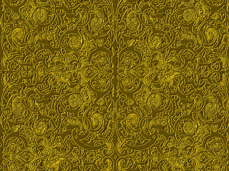 Seamless Golden Ornament Pattern