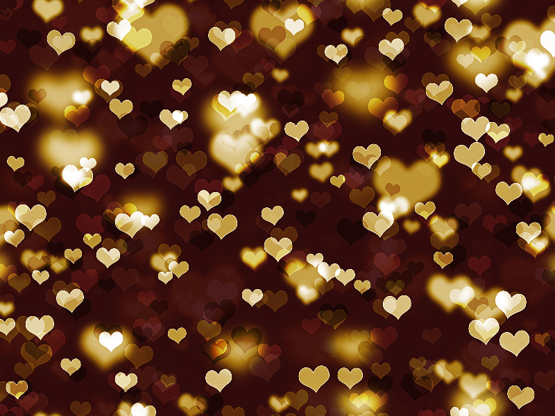 Seamless Heart Bokeh Photoshop Overlay Texture