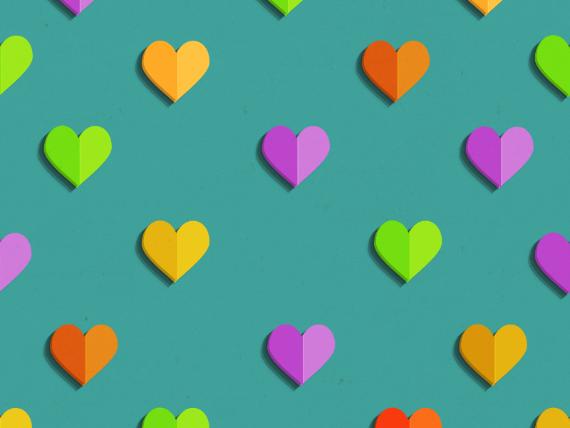 Seamless Heart Paper Pattern