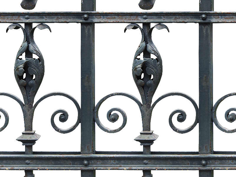 Seamless Iron Fence PNG Image
