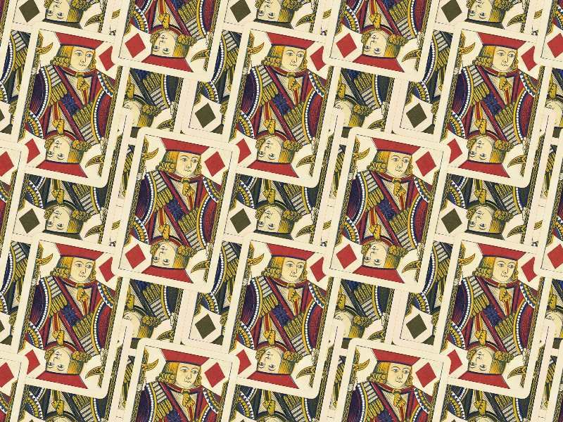 Seamless Jack Playing Card Pattern