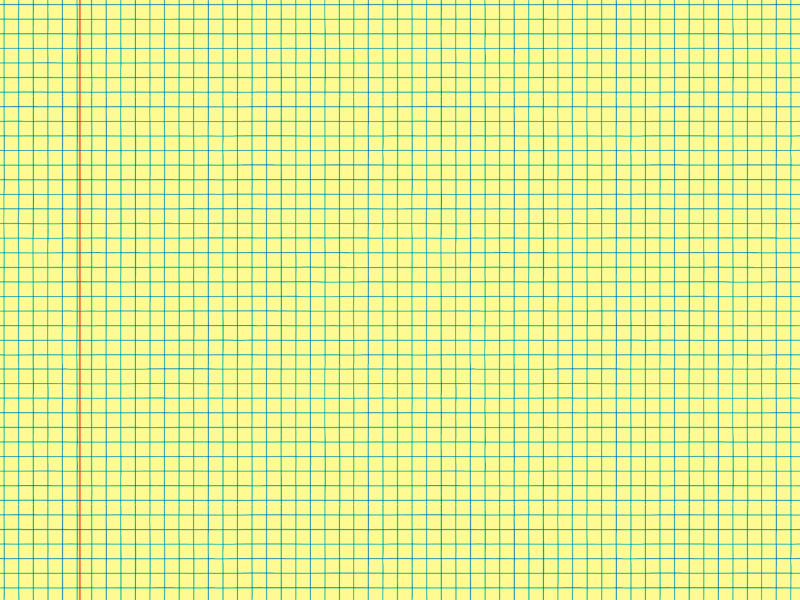 Seamless Notebook Math Paper Yellow