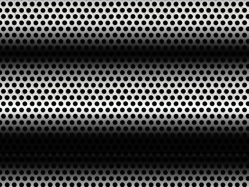 Seamless Perforated Metal Sheet Texture