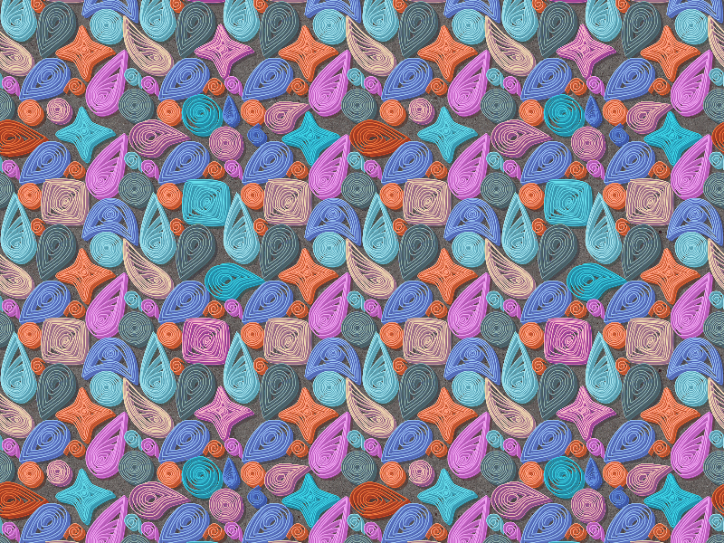 Seamless Quilling Pattern