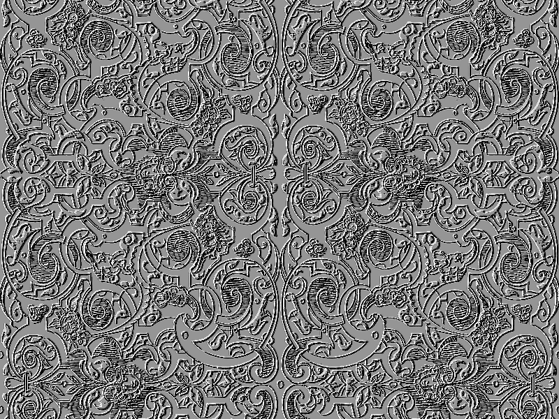 Seamless Silver Ornament Pattern