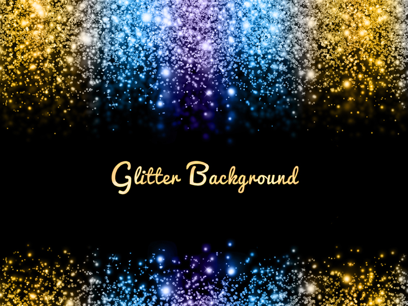Magic Light Background With Glitter Sparkle Effects (Bokeh-And-Light