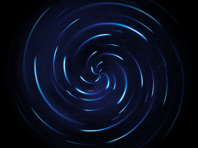 Spinning Stars Trail Swirl Texture Overlay For Photoshop