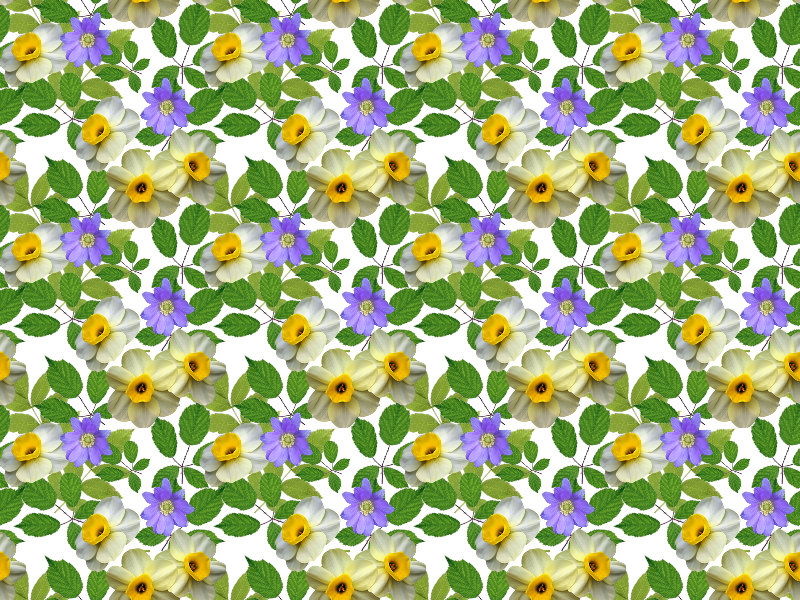 Spring Flower Pattern PNG