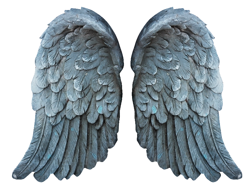 Stone Angel Wings PNG Free Image