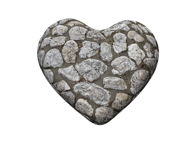 Stone Heart PNG Image