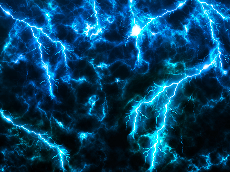 Sky Storm With Lightning Strike Effect Texture Overlay Free