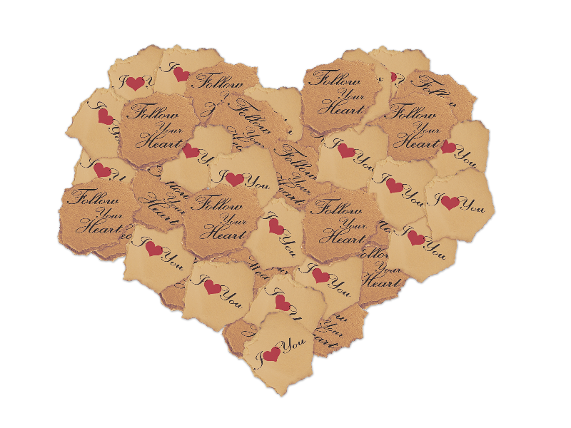 Torn Paper Heart PNG Stock Photo