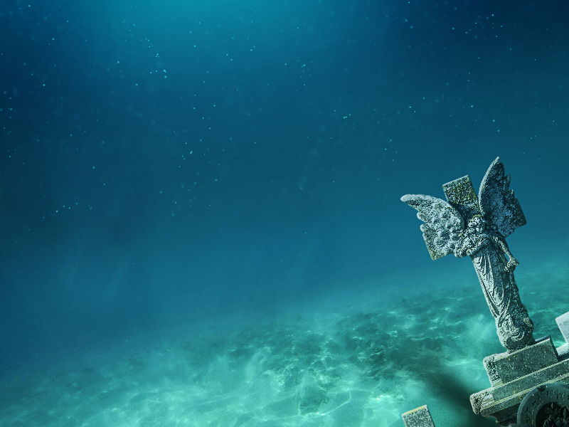 Underwater Horror Background For Photoshop (Water-And-Liquid